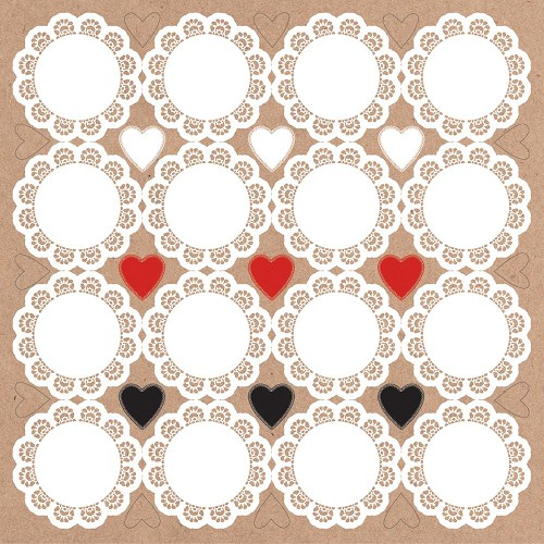"51339 Kaisercraft Mix & Match Doilies Cardstock Stickers 12""X12""."
