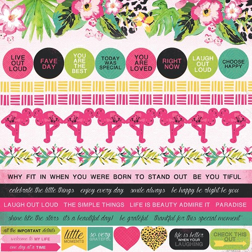 "51342 Kaisercraft Say Aloha Cardstock Stickers 12""X12""."