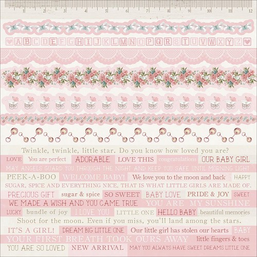 "51345 Kaisercraft Peek-A-Boo Cardstock Stickers 12""X12"" Girl."