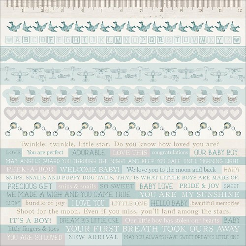 "51346 Kaisercraft Peek-A-Boo Cardstock Stickers 12""X12"" Boy."