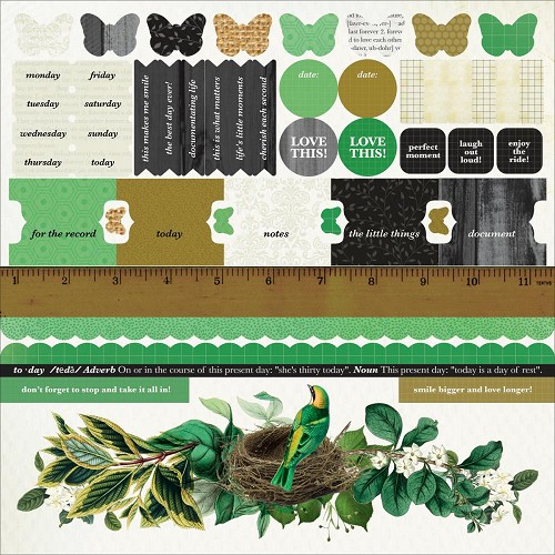 "51347 Kaisercraft Limelight Cardstock Stickers 12""X12""."