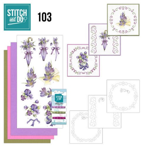 51393 Stitch and Do 103 Flowers in Purple.