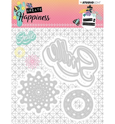 51430 Studio Light - Cutting and Embossing Die Create Happiness nr.157 (STENCILCR157).