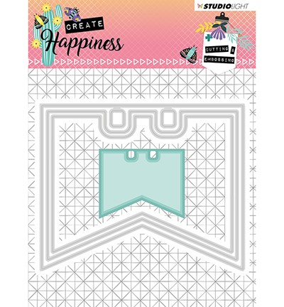 51433 Studio Light - Cutting and Embossing Die Create Happiness nr.154 (STENCILCR154).