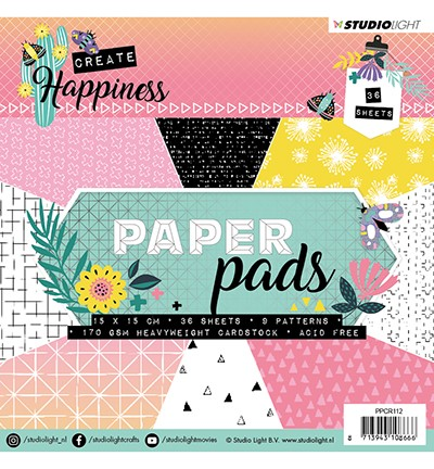 51435 Studio Light - Paper Pad, Create Happiness nr.112 (PPCR112).