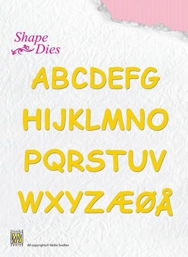 51480 Nellie`s Choice Shape die - Alphabet (hoogte letters 15mm) (SD037).