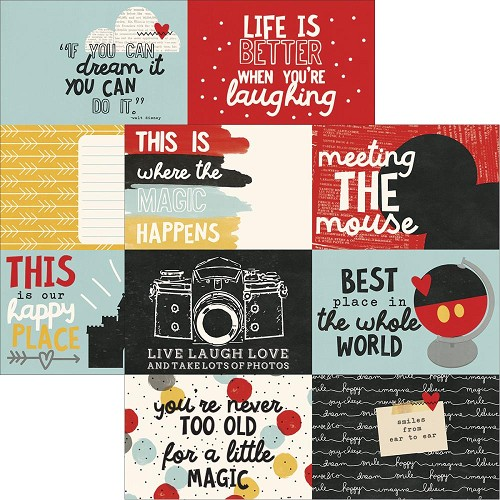 "51490 Simple Stories Say Cheese Iii Double-Sided Elements Cardstock 12""X12""4""X6"" Journaling Cards."