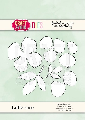 51512 Craft and You Design  CUTTING DIES Little Rose (CW070).