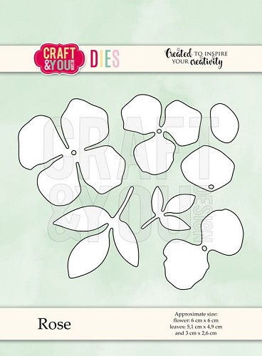 51513 Craft and You Design  CUTTING DIES Little Rose (CW069).