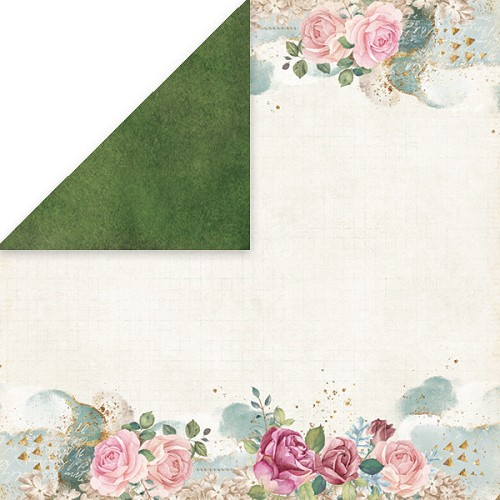 51521 Craft and You Design FLOWER VIBES 2 Scrapbooking single paper 12x12, 200gsm.