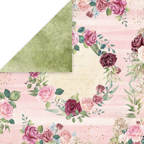 51524 Craft and You Design FLOWER VIBES 5 Scrapbooking single paper 12x12, 200gsm.