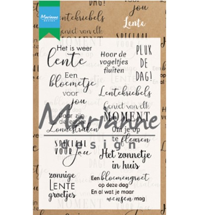 51562 Marianne Design Clearstamps Lente (CS1022).