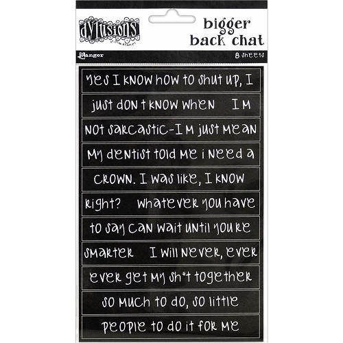 51589 Dyan Reaveley`s Dylusions Bigger Back Chat Stickers Black.