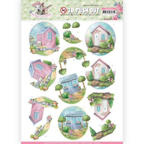 51625 3D Pushout - Amy Design - Spring is Here - Garden Sheds (SB10334).