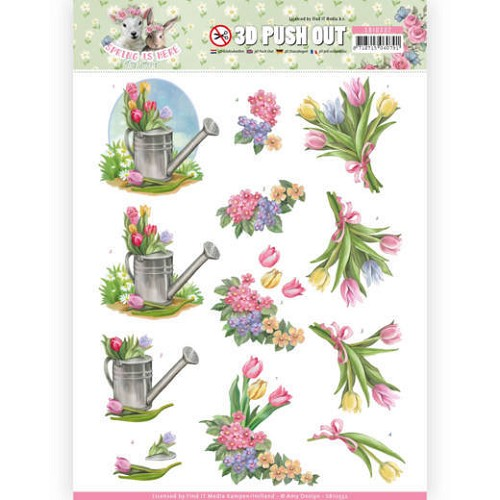 51627 3D Pushout - Amy Design - Spring is Here - Tulips (SB10332).