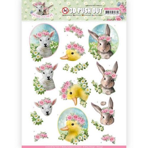 51628 3D Pushout - Amy Design - Spring is Here - Tulips (SB10331).
