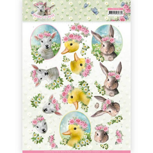 51632  (364) 3D Knipvel - Amy Design - Spring is Here - Baby Animals (CD11276).