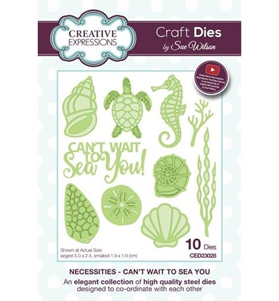 51649 Creative Expressions Necessities Collection Can`t Wait to Sea You (CED23028).