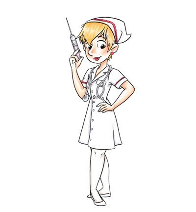 51700 CC Designs - Nurse Sue Rubber Stamp (CCDR-0005).