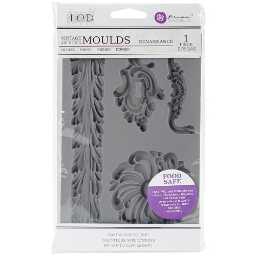 "51781 Prima Iron Orchid Designs Vintage Art Decor Mould 5""X8"" Renaissance (815820)."