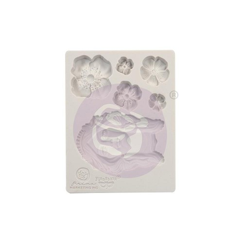 "51787 Prima Finnabair Decor Moulds 3.5""X4.5"" Flower Queen (966607)."