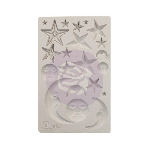 "51816 Prima Finnabair Decor Moulds 5""X8"" Stars & Moons (966638)."