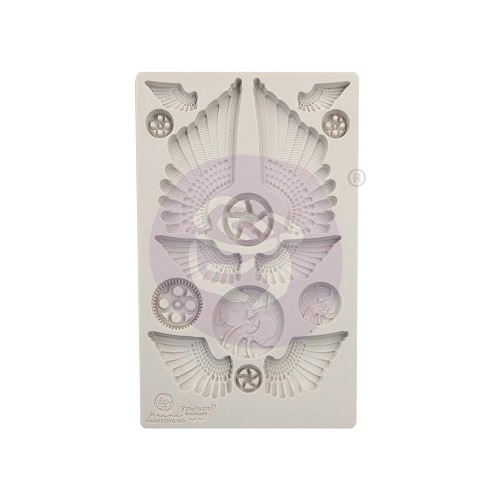 "51817 Prima Finnabair Decor Moulds 5""X8"" Cogs & Wings (966614)."