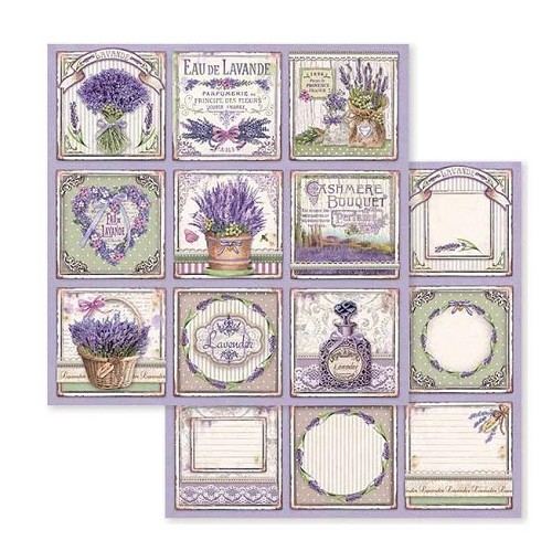"51914  Stamperia Double-Sided Cardstock 12""X12"" Provence Cards (SBB593)."