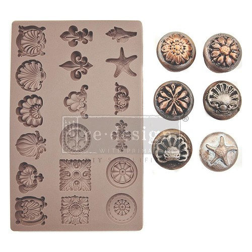 "51945 Prima Marketing Redesign Mould 5""X8""X8mm Seashore Treasures (638849)."
