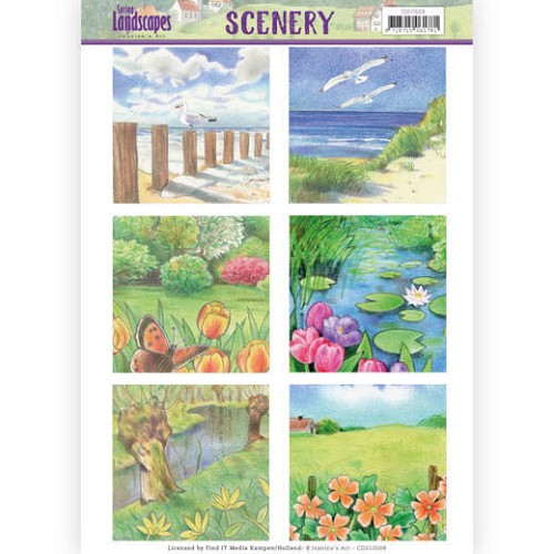 51952 Die Cut Topper - Scenery Jeanines Art - Spring Landscapes 1 (CDS10008).