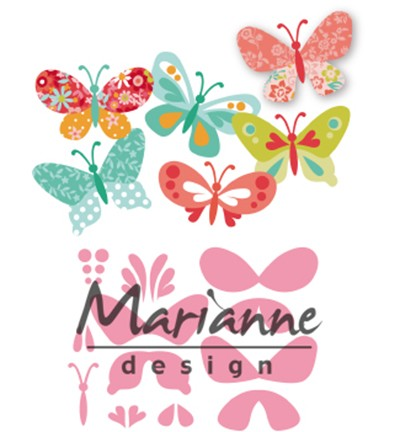 52003 Marianne Design Collectable Eline`s Butterflies (COL1466).