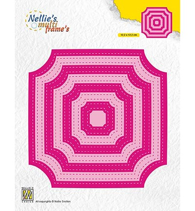 52040 Nellie`s Choice Stiched Cornerless Squares 22x122mm (MFD130).