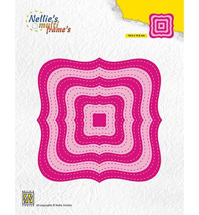 52041 Nellie`s Choice Stiched Braced Squares 10,8x10,8 cm (MFD132).