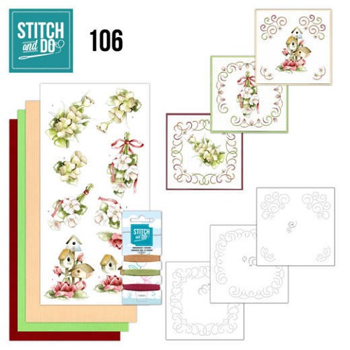 52059 Stitch and Do 106 Pink Spring Flowers.