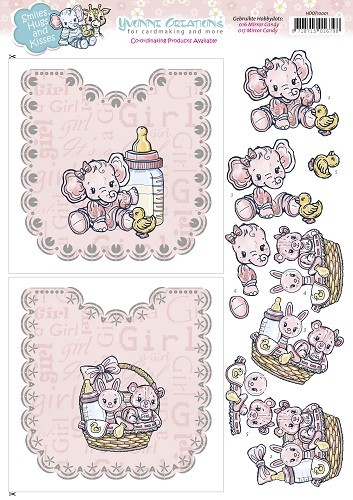 52069 (556) Hobbydots Sheets - Yvonne Creations - Baby Girl (HDOT10001).