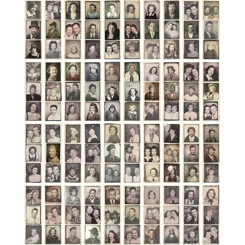 52169 Tim Holtz Idea-Ology Photobooth Vintage Photo Strips 40/Pkg (TH93799).