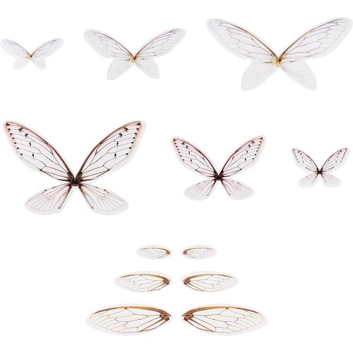 52171 Tim Holtz Idea-Ology Transparent Acetate Wings 72/Pkg (TH93785).