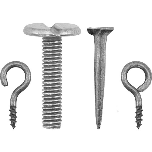 52175 Tim Holtz Idea-Ology Vignette Hardware Pack 55/Pkg Hooks, Nails, Screw Eyes & Long Screws (TH9