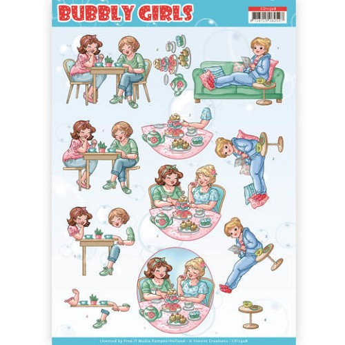 52181 3D Knipvel - Yvonne Creations- Bubbly Girls - Me Time (CD11308).