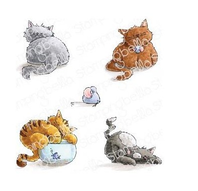 52191 Stamping Bella Cling Stamps Set Of Kittens (EB778).