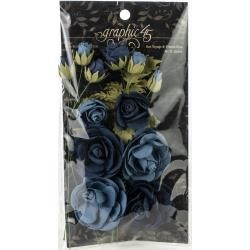 52250 Graphic 45 Staples Rose Bouquet Collection 15/Pkg Bon Voyage & French Blue (4501788).