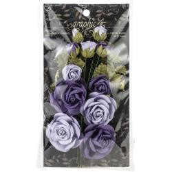 52251 Graphic 45 Staples Rose Bouquet Collection 15/Pkg French Lilac & Purple Royalty (4501787).
