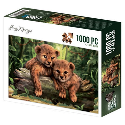 52269 Puzzle 1000 pc - Amy Design - Wild Animals - Cubs 1000 Stukjes 68 x 49 cm.
