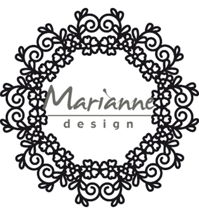 52320  Marianne Design  - Craftable Floral Doily (CR1470).