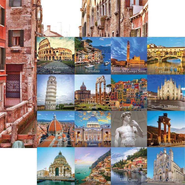 "52348 Reminisce Italy Double-Sided Cardstock 12""X12"" Cut-Apart."
