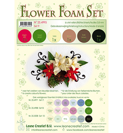 52365 Leane Creatief Foam Sheets Set 7 Brown-red-green colours 6pcs / A4 / 0.8mm (25.4995).