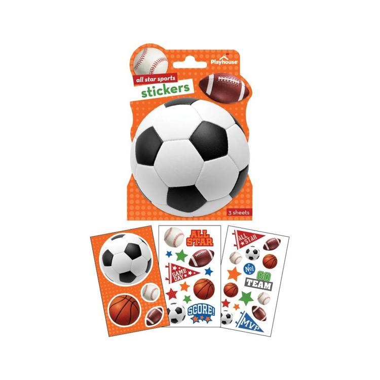 52370 Paper House Paper Stickers 3/Pkg All Star Sports.