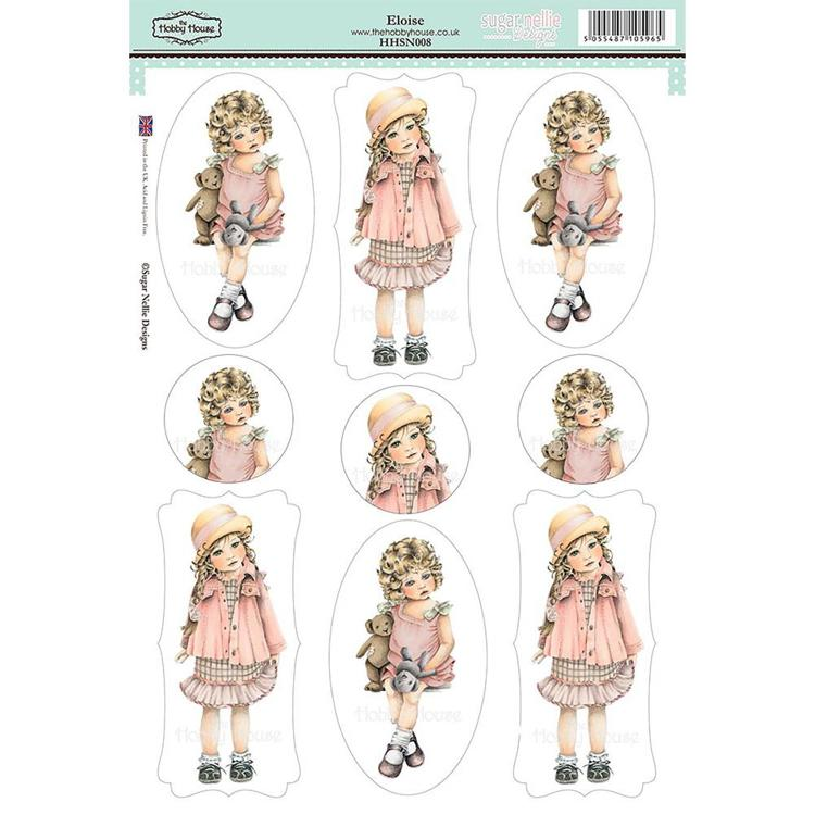 52504 Sugar Nellie Designs Topper Sheet A4 Eloise (HHSN008).