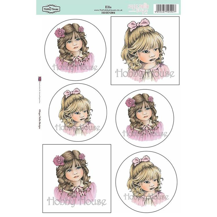 52505 Sugar Nellie Designs Topper Sheet A4 Ella (HHSN004).