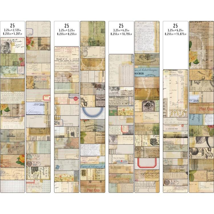 52593 Tim Holtz Idea-Ology Journal Cards 100/Pkg  (TH93957).